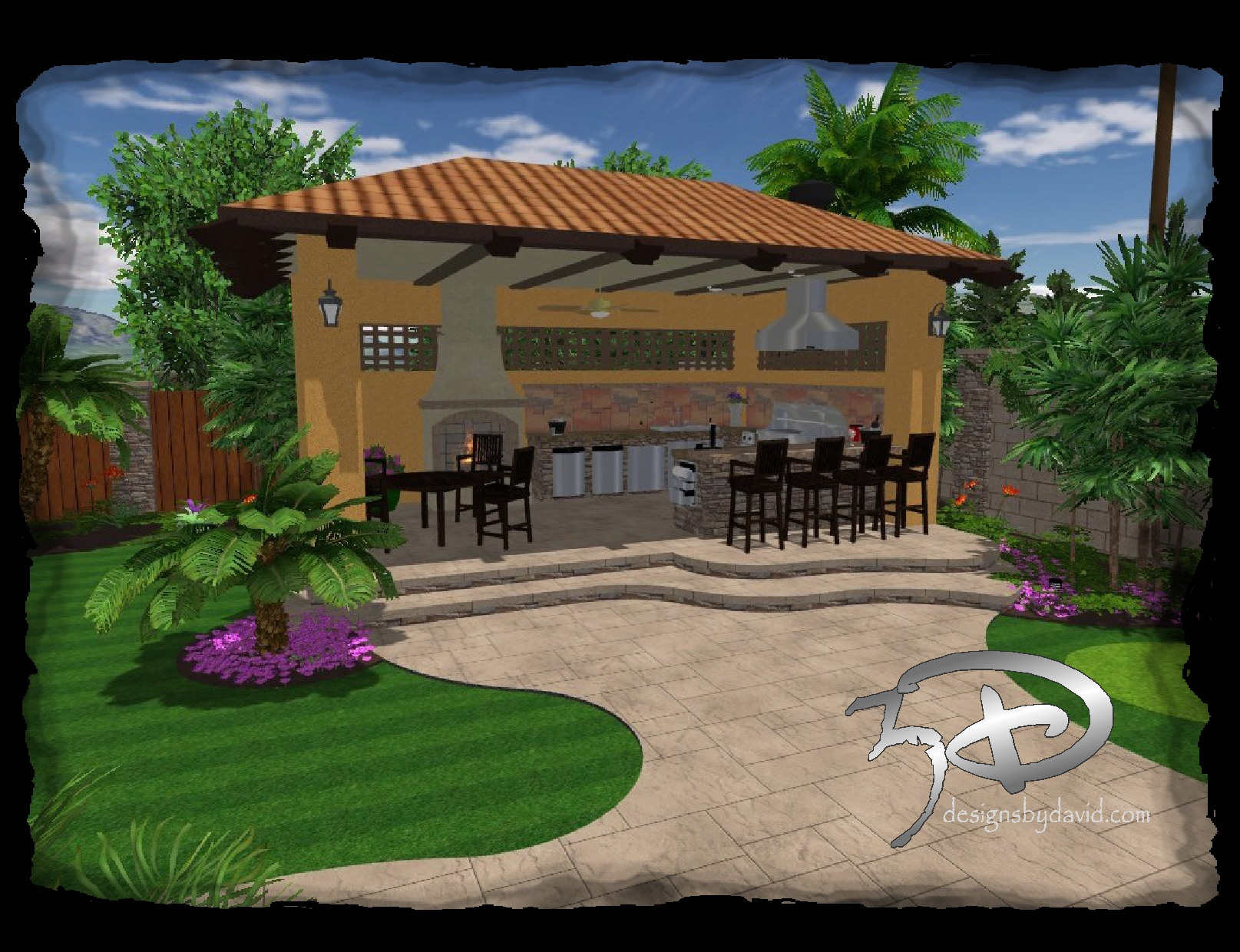 Pics Photos  Cabanas Outdoor Kitchens 3d Designs By David
