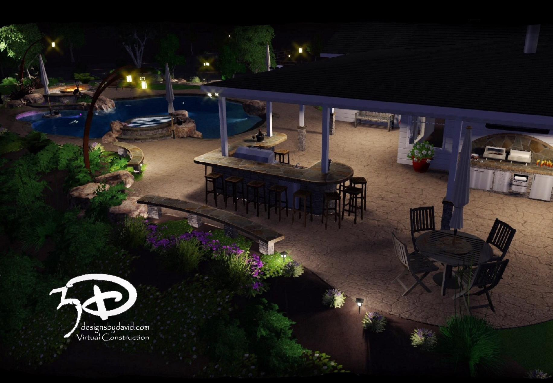 Swimming pool design in madera 3d designs by david for Virtual swimming pool design